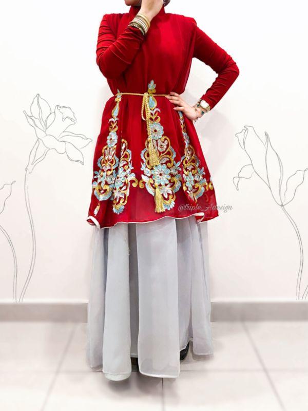 Red Ramadan dress