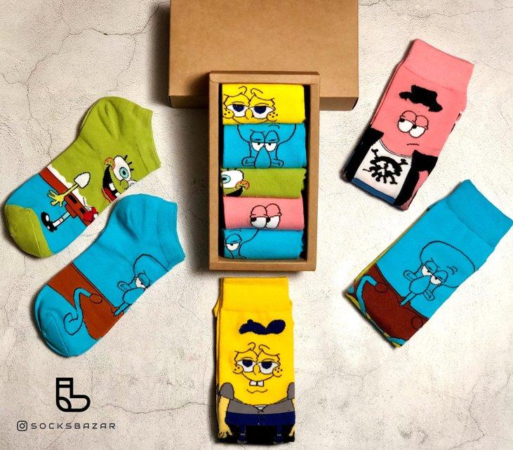Spongebob Squarepants Socks Set (5pcs)