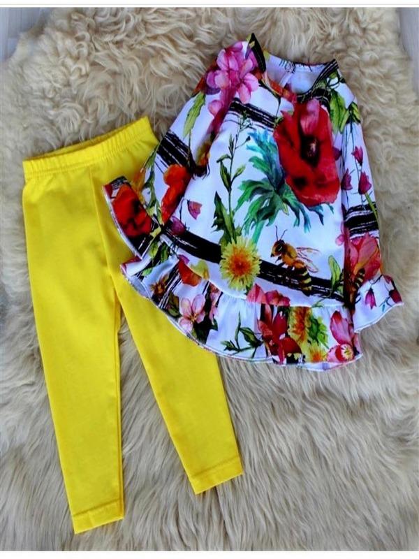 Floral yellow set
