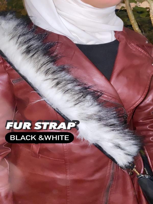 fur strap